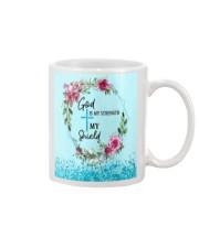 God Is My Strength Customized Mug tile