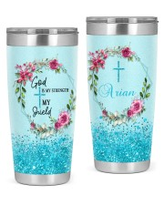 God Is My Strength Customized 20oz Tumbler front