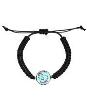 God Is My Strength Customized Cord Circle Bracelet tile