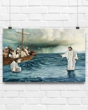 Jesus Christ Walking On Water 17x11 Poster aos-poster-landscape-17x11-lifestyle-17