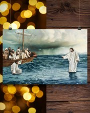 Jesus Christ Walking On Water 17x11 Poster aos-poster-landscape-17x11-lifestyle-29