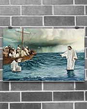 Jesus Christ Walking On Water 17x11 Poster poster-landscape-17x11-lifestyle-18