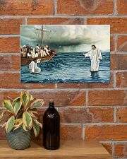 Jesus Christ Walking On Water 17x11 Poster poster-landscape-17x11-lifestyle-23