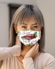 Jesus Take The Wheel Christmas  Cloth face mask aos-face-mask-lifestyle-18