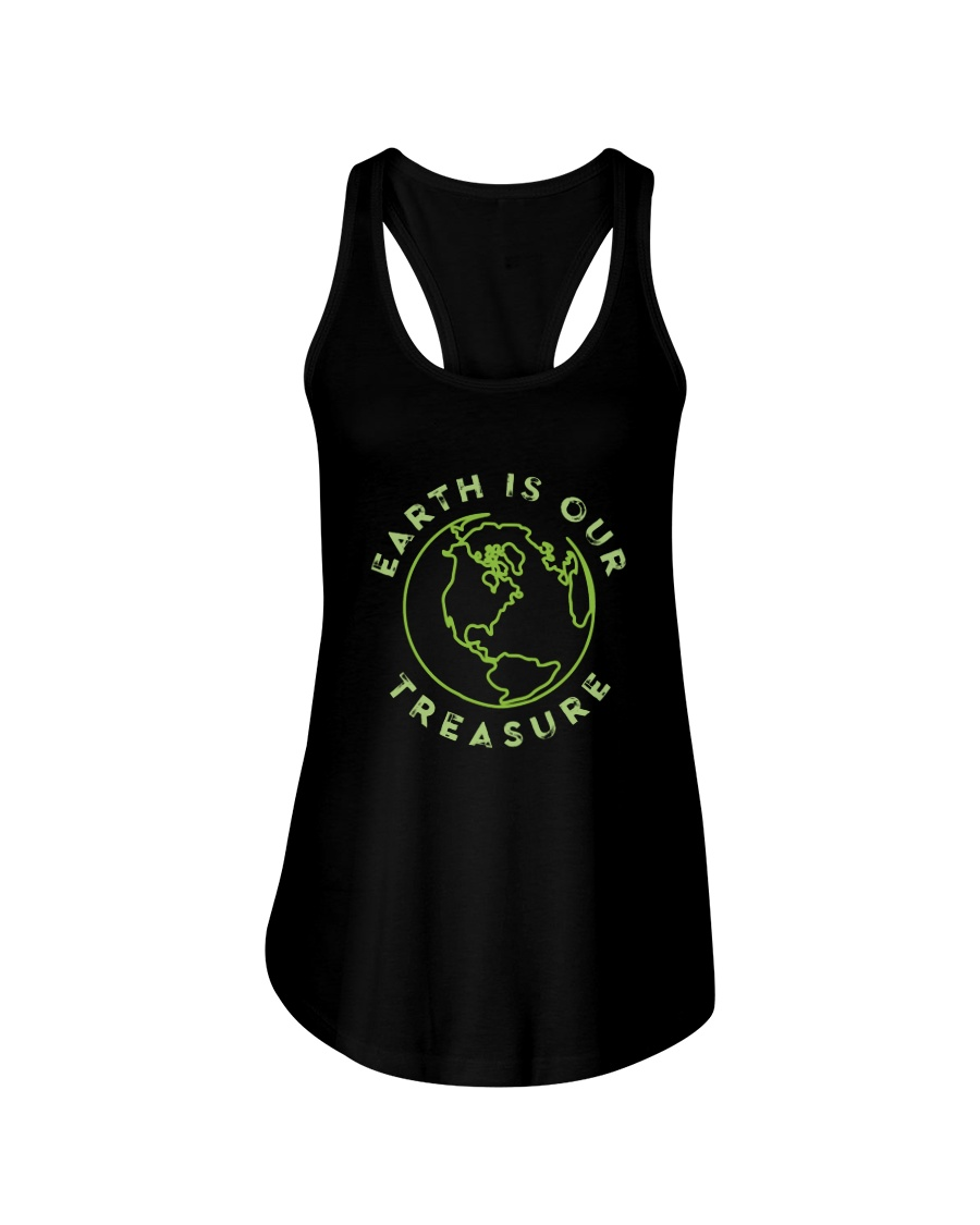 Earth is Our Treasure Ladies Flowy Tank