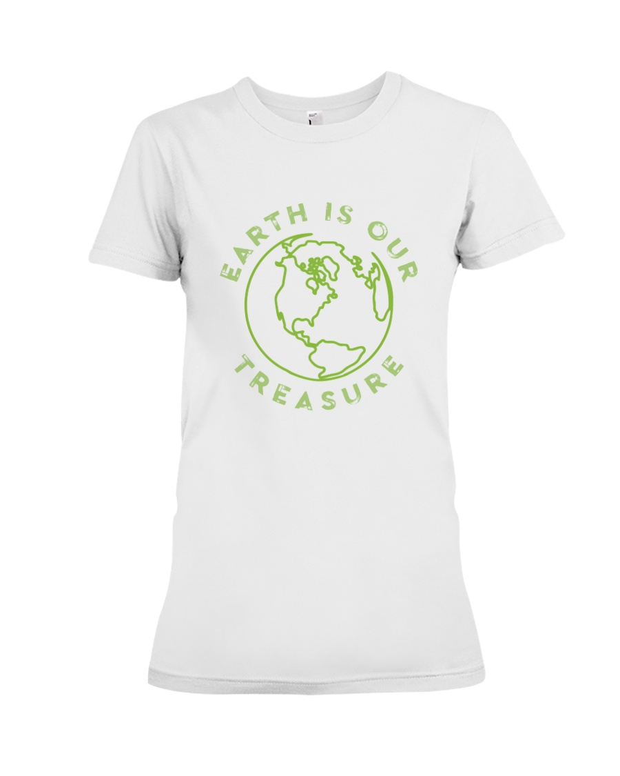 Earth is Our Treasure Premium Fit Ladies Tee