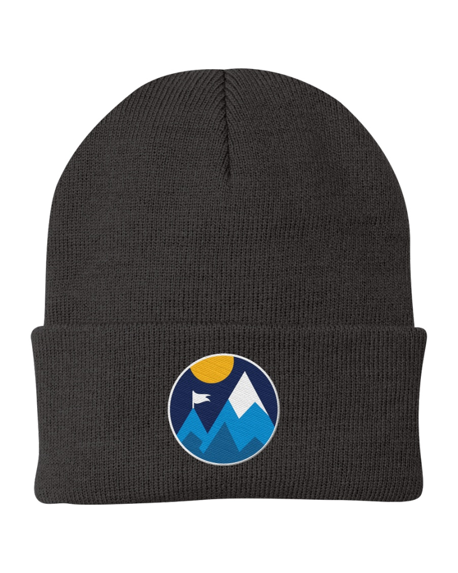 Minimalist Mountains Knit Beanie