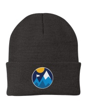 Minimalist Mountains Knit Beanie front