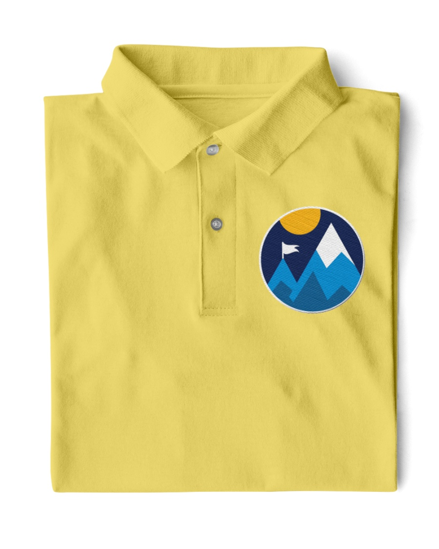Minimalist Mountains Classic Polo