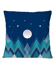 Abstract Night in the Forest Square Pillowcase back