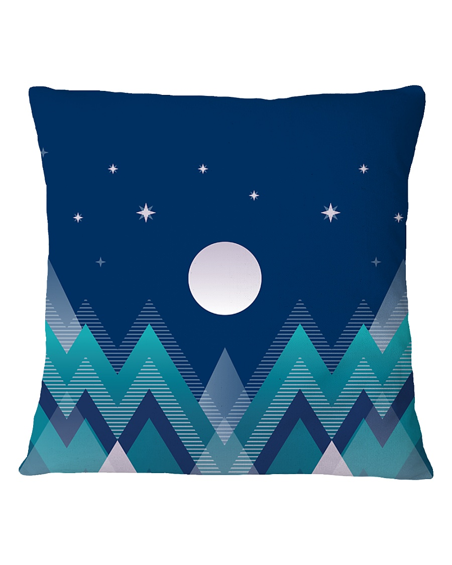 Abstract Night in the Forest Square Pillowcase