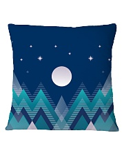 Abstract Night in the Forest Square Pillowcase thumbnail
