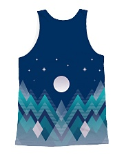 Abstract Night in the Forest All-over Unisex Tank back