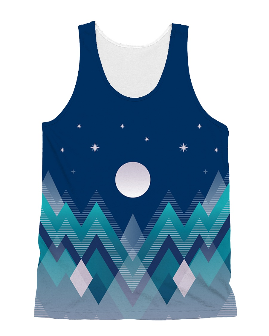 Abstract Night in the Forest All-over Unisex Tank