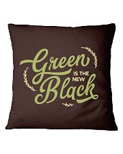 Green is the New Black Square Pillowcase tile