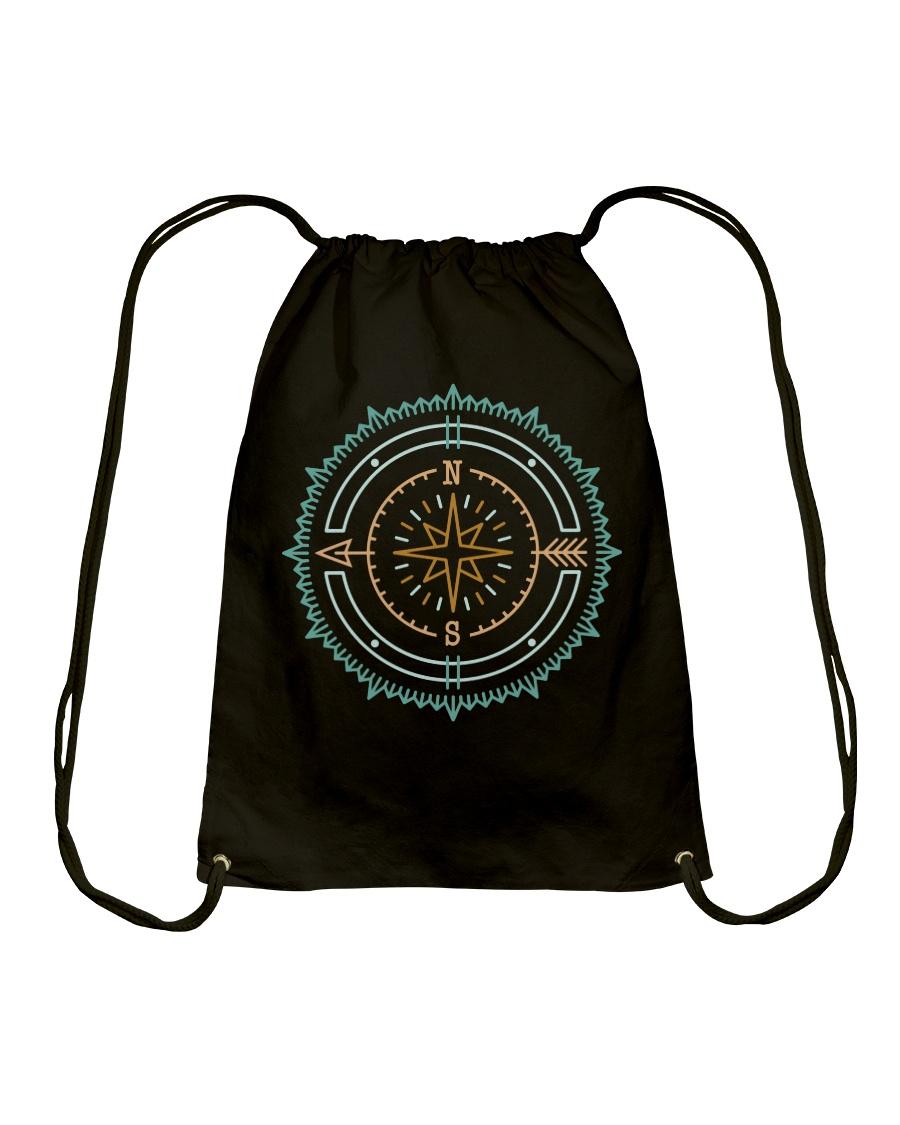Compass Drawstring Bag