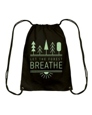 Let the Forest Breath Drawstring Bag thumbnail
