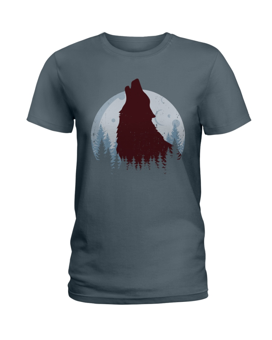 Howling Wolf Ladies T-Shirt