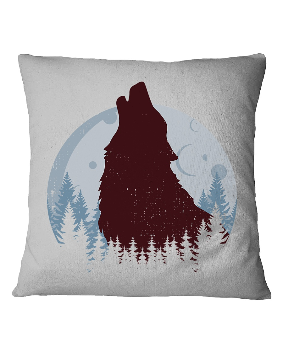 Howling Wolf Square Pillowcase