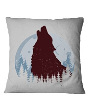 Howling Wolf Square Pillowcase front