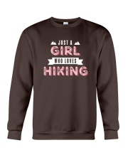 Just a Girl Who Loves Hiking Crewneck Sweatshirt thumbnail