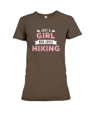 Just a Girl Who Loves Hiking Premium Fit Ladies Tee tile
