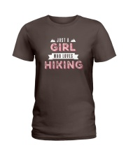 Just a Girl Who Loves Hiking Ladies T-Shirt thumbnail