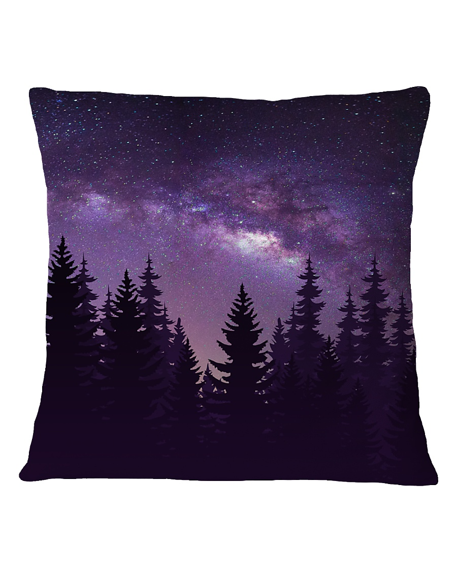 Starry Forest Square Pillowcase