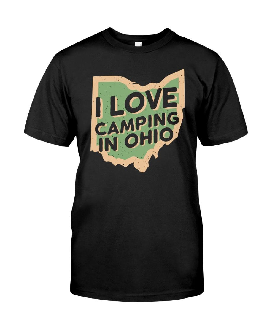 I Love Camping in Ohio Premium Fit Mens Tee