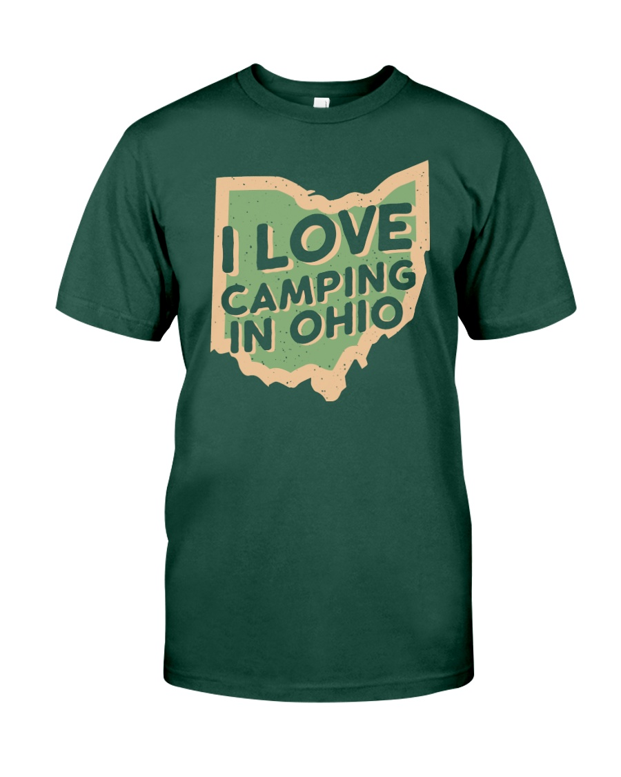 I Love Camping in Ohio Premium Fit Mens Tee