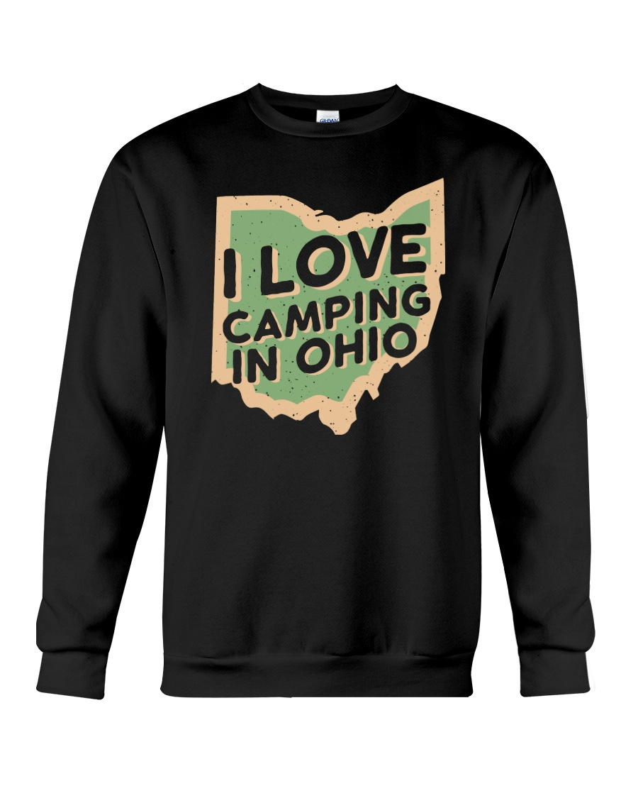 I Love Camping in Ohio Crewneck Sweatshirt