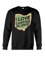 I Love Camping in Ohio Crewneck Sweatshirt front