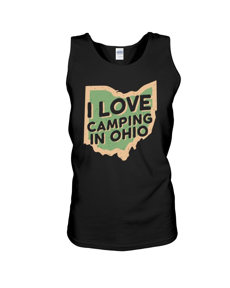 I Love Camping in Ohio Unisex Tank