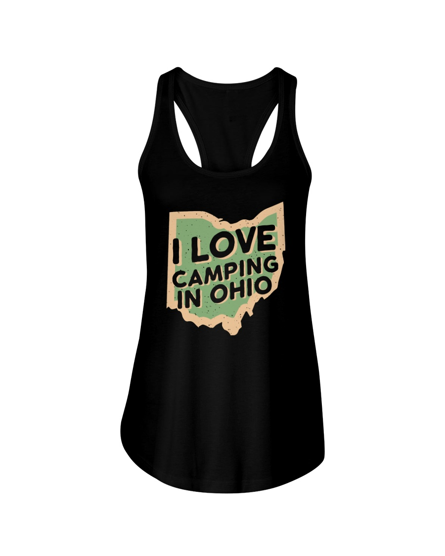 I Love Camping in Ohio Ladies Flowy Tank