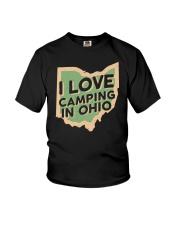 I Love Camping in Ohio Youth T-Shirt front