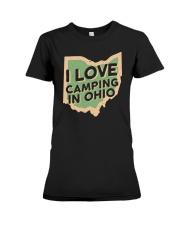 I Love Camping in Ohio Premium Fit Ladies Tee front