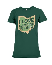 I Love Camping in Ohio Premium Fit Ladies Tee tile