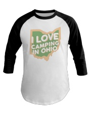 I Love Camping in Ohio Baseball Tee tile