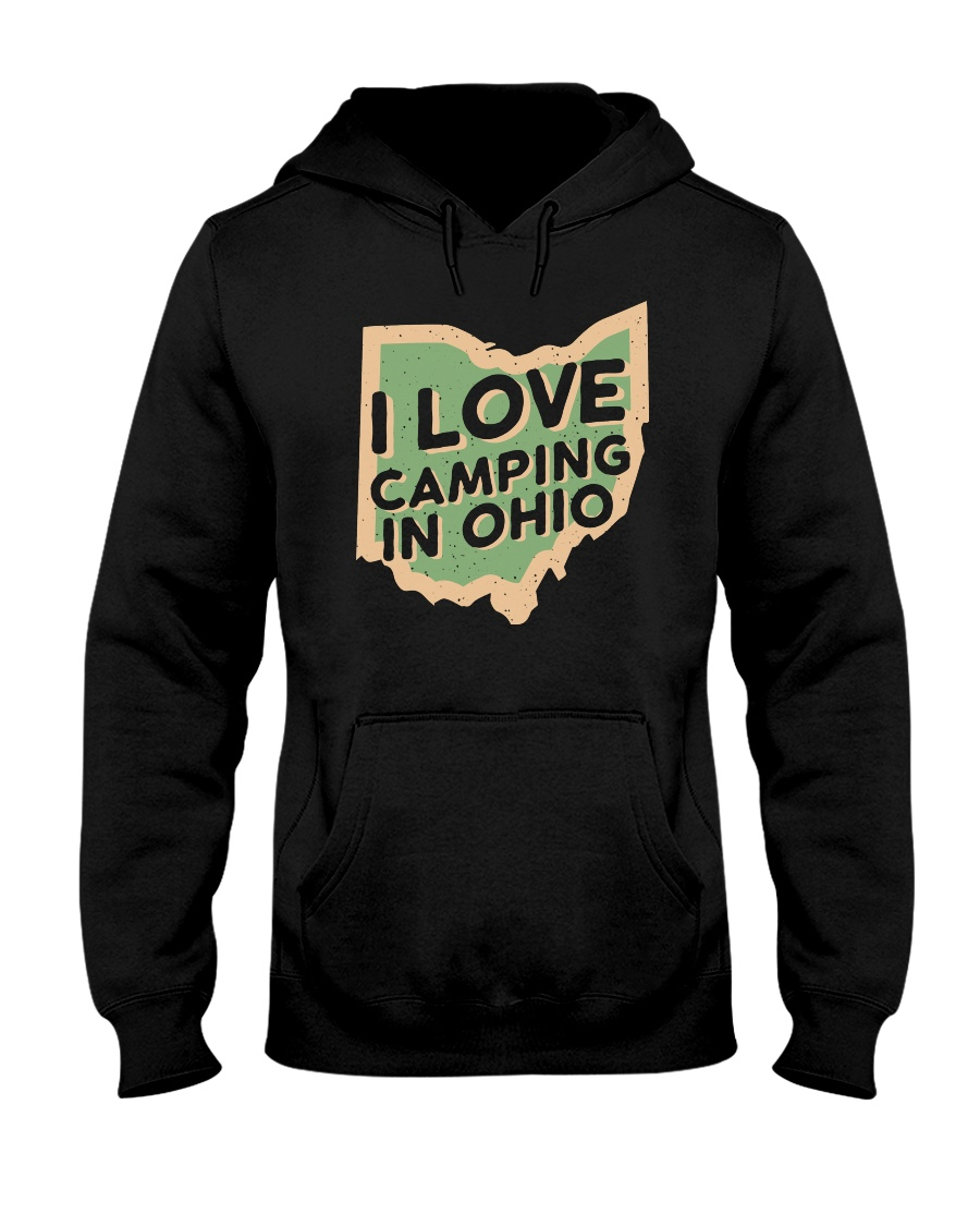 I Love Camping in Ohio Hooded Sweatshirt