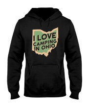 I Love Camping in Ohio Hooded Sweatshirt front