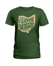 I Love Camping in Ohio Ladies T-Shirt tile