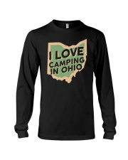 I Love Camping in Ohio Long Sleeve Tee front