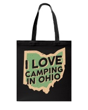 I Love Camping in Ohio Tote Bag front