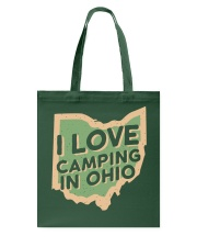 I Love Camping in Ohio Tote Bag tile