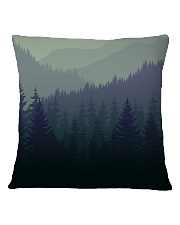 Green Forest Square Pillowcase back