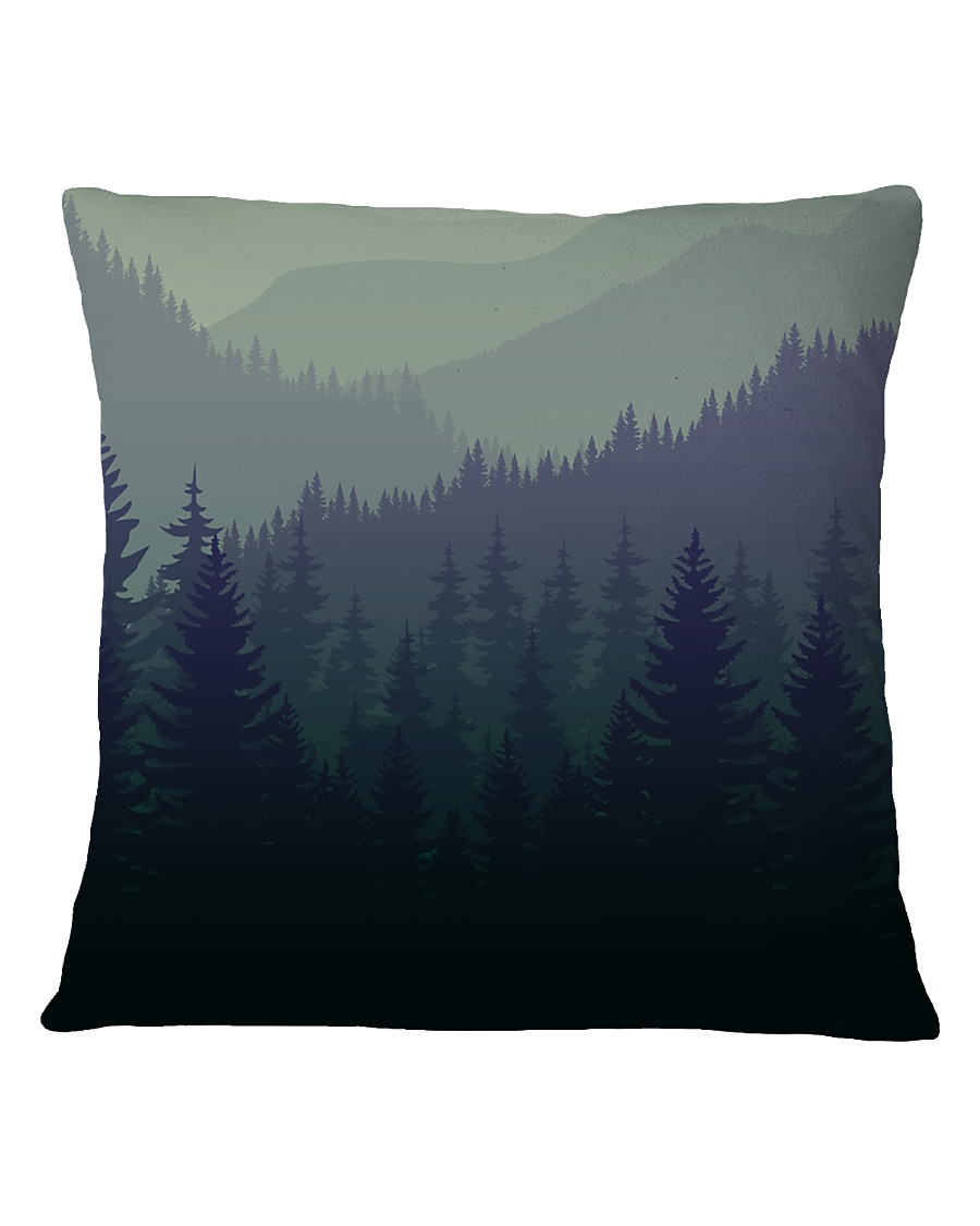 Green Forest Square Pillowcase