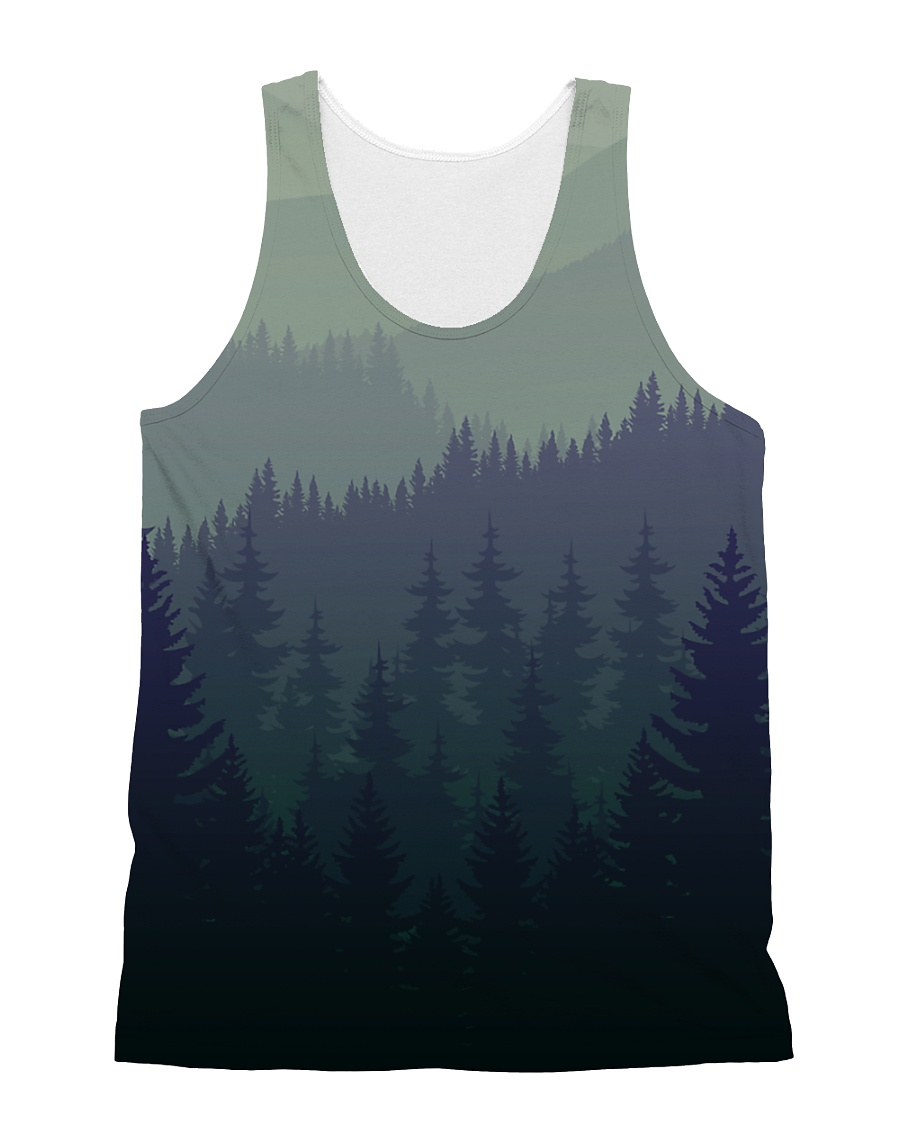 Green Forest All-over Unisex Tank