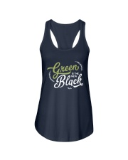 Green is the New Black - White Version Ladies Flowy Tank thumbnail