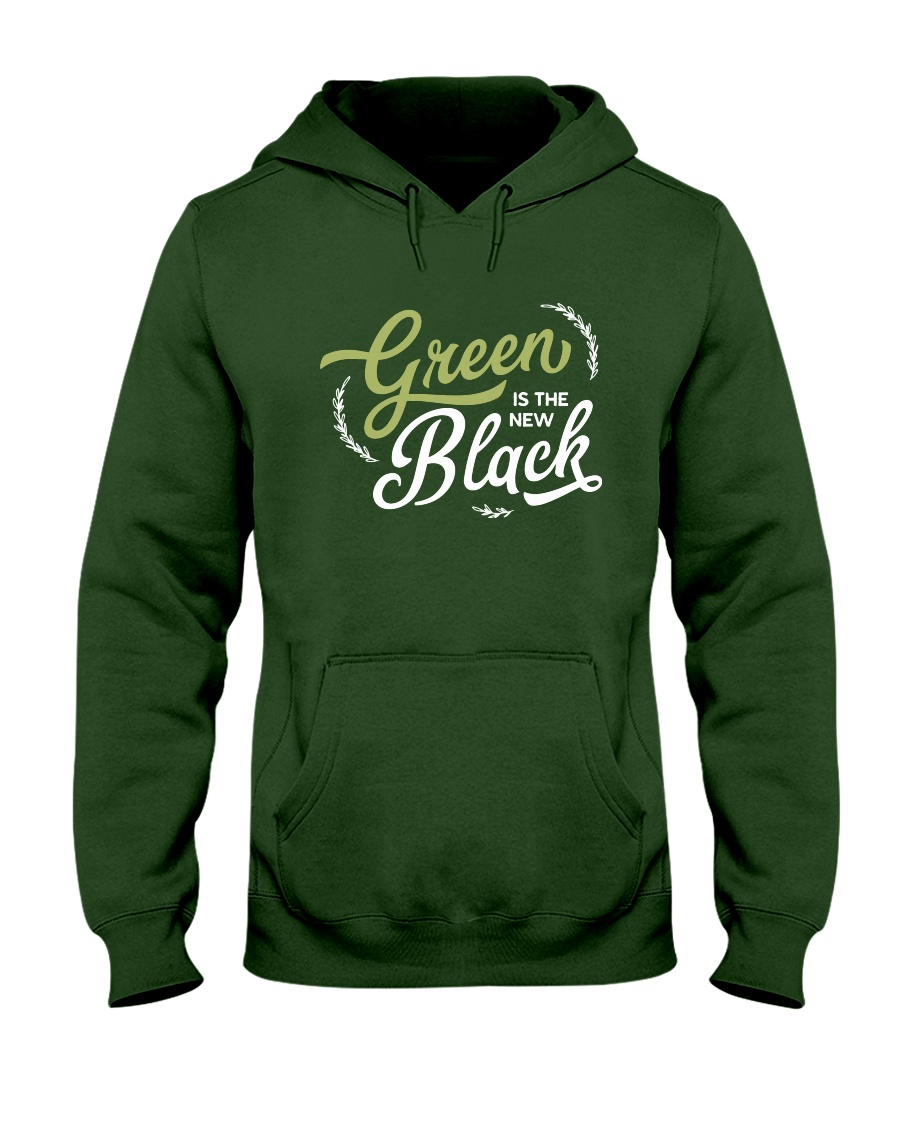 Green is the New Black - White Version Hooded Sweatshirt