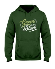 Green is the New Black - White Version Hooded Sweatshirt front